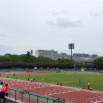 尼崎ナイター記録会で100mに出場。